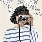 Ilustración original de tu puño y tableta de Aravenal. A Illustration, Collage, Drawing, and Digital illustration project by Alejandra Aravena - 06.16.2019