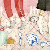 El maravilloso Mago de Oz. Un proyecto de Ilustración, Dibujo a lápiz, Dibujo, Pintura a la acuarela, Dibujo artístico e Ilustración infantil de Berta Fortet Berne - 01.06.2019