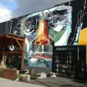 Mural para Breakside Brewery Portland. A Urban Art und Illustration project by Alvaro Tapia Hidalgo - 01.06.2017
