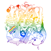 Orgullo LGTBI+. A Design, Illustration, Creativit, Drawing, and Digital illustration project by Verónica Cámara Beviá - 06.28.2019