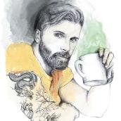 """Ilustración """"El tríptico del té"""". Un progetto di Design, Illustrazione, Disegno e Illustrazione digitale di Beatriz - 02.07.2019"""