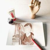 Mi Proyecto del curso: Introducción a la ilustración con tinta china. Um projeto de Ilustração de Patricia Cornellana - 03.07.2019