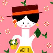 Olive Oil - Vintage Illustration. Un progetto di Br, ing e identità di marca, Graphic Design e Illustrazione di Inés Marco Aguilar - 09.07.2019
