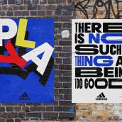 Adidas – Campaña Mundial de fútbol, Londres. A Design, Mode, Grafikdesign und Plakatdesign project by Yarza Twins - 12.07.2019