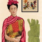 Homenaje a Frida. A Collage, and Drawing project by Alejandra Aravena - 07.13.2019