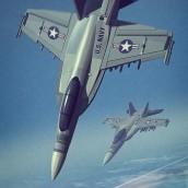 Good Luck Sock War Aircrafts. Um projeto de Ilustração, 3D e Ilustração digital de Román García Mora - 05.11.2018
