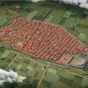 Pompeya antes de la erupción. Um projeto de 3D, Infografia e Ilustração digital de Román García Mora - 15.02.2019