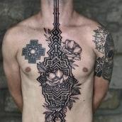 Tatuaje Colaborativo . Um projeto de Desenho de tatuagens e Ilustração de Polilla Tattoo - 16.07.2019