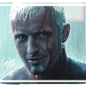 Rutger Hauer - Blade Runner - Time to Die. Um projeto de Ilustração digital de Juan Saniose - 25.07.2019