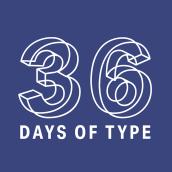 36 Days of Type 2018. Free font. Um projeto de Tipografia de BlueTypo - 19.01.2020