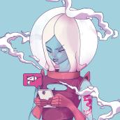 Cosmic Girl. Un proyecto de Ilustración de Leon de la Cruz - 05.02.2017