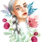Retrato ilustrado en acuarela. Un proyecto de Diseño de Eva Maciel - 12.08.2019