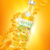 ABSOLUT MANGO. A Advertising, Post-production, Product photograph, Studio Photograph, Digital photograph, and Fine-art photograph project by Mario Olvera - 08.23.2019