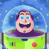 Toy Story - Ilustraciones. Um projeto de Animação de personagens, Animação 2D e Ilustração digital de Guillermo Izaguirre - 01.09.2019