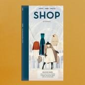 Portadas para SHOP Magazine. Un proyecto de Ilustración digital, Diseño editorial e Ilustración de Carla Lucena - 01.05.2018