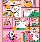 La Rutina. Un projet de Illustration, B, e dessinée et Illustration numérique de Chabaski - 04.09.2019