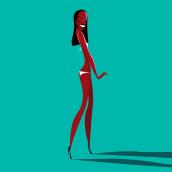 María, Naomi, Twyggy. A Vector Illustration, Fashion photograph, and Portrait illustration project by Jorge Arévalo - 09.04.2019