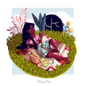 Mythological modern girls. Un proyecto de Diseño de personajes e Ilustración de Stephany Mesa - 05.03.2019