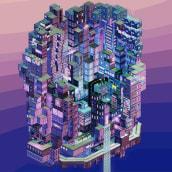 A Day in the Life. Un progetto di Animazione 3D , e Pixel art di Galamot Shaku - 09.04.2018