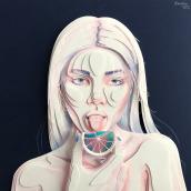 Retrato 1. Um projeto de Artes plásticas de Ale Rambar - 13.09.2019