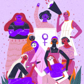 Día de la mujer. Un progetto di Illustrazione di Catalina Vásquez - 16.03.2019