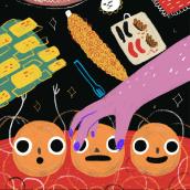 Día de las velitas. Un progetto di Animazione e Illustrazione di Catalina Vásquez - 16.12.2018
