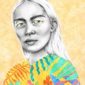 Mi Proyecto del curso: Retrato con lápiz, técnicas de color y Photoshop. A Illustration project by Ainhoa Fernández Uría - 17.09.2019