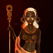 Cultura africana, by Suas. Un projet de Design , Illustration, Peinture, Illustration numérique et Illustration de portrait de Susana Ríos - 09.10.2019