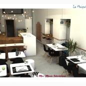 Coffee shop La Margarita Azul. Un proyecto de Diseño de interiores de Mar Marín - 20.03.2019