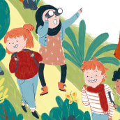 A Walk in Nature. A Illustration, and Children's Illustration project by Cristina Martín Osuna - 10.22.2019