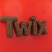Twix. A 3D, Art Direction, and Lettering project by CESS - 10.25.2019