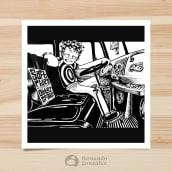 """Dibujo a mana - """"Música"""". Un proyecto de Dibujo e Ilustración de Fernando González - 29.10.2019"""