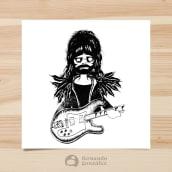 """Dibujo a mano - """"Rockstars"""". Un proyecto de Dibujo e Ilustración de Fernando González - 29.10.2019"""