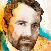 Retrato Técnica mixta. Un projet de Illustration, Illustration de portrait et Illustration numérique de Robert Tirado - 31.10.2019