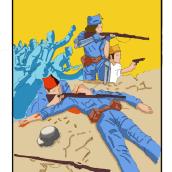 """""""La caída de Cataluña"""" Universo 36. Un proyecto de Ilustración, Diseño de personajes, Bellas Artes, Cómic y Dibujo a lápiz de Montse Mazorriaga Moré - 01.11.2019"""