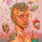 Vermilion Substances. A Illustration, and Digital illustration project by Sebastián Rubiano - 11.02.2019