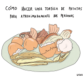 Cómo hacer una tortilla de patatas . Un proyecto de Ilustración digital de Usue Egia - 05.11.2019