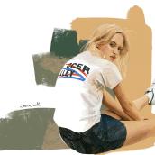 Digital Illustration with Procreate. Un proyecto de Ilustración, Pintura, Ilustración digital, Ilustración de retrato, Dibujo de Retrato y Dibujo realista de Victoria Nell - 07.11.2019