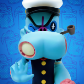 Zombie Popeye 90º Aniversario. A To, Design, and Sculpture project by Luaiso Lopez - 08.27.2019
