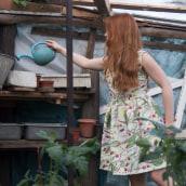 Pattern design: vestido lolita. Un proyecto de Moda, Pattern Design e Ilustración textil de Fanny González - 18.11.2019