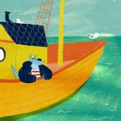 Silver, la Loba de Mar. A Illustration, and Children's Illustration project by Cristina Martín Osuna - 11.18.2019