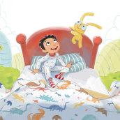 It's Not a Bed, It's a Time Machine. A Children's Illustration project by Teresa Martínez - 07.21.2019