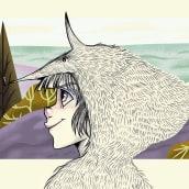 El lobo en la montaña. A Pencil drawing, Illustration, and Children's Illustration project by Venisa Del Aguila - 11.22.2019