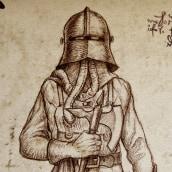 Leonardo Da Vinci: Maquinaria de extinción de incendios.Nuevo proyecto. Un proyecto de Concept Art, Humor gráfico e Ilustración de diego Blanco - 25.11.2019