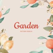 Garden . A Design, Illustration, and Textile illustration project by Nati Tello - 12.04.2019