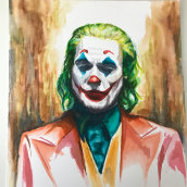 Joker. A Watercolor Painting project by Elena Lanzoni - 11.01.2019