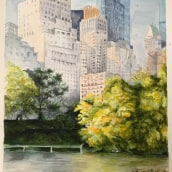 New York. A Watercolor Painting project by Elena Lanzoni - 12.01.2019
