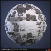 Stone Floor with Snow. Un progetto di 3D , e Progettazione di videogiochi di Angel Fernandes - 09.12.2019