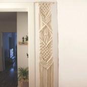 Mi Proyecto del curso: Introducción al macramé: tapiz XL. Um projeto de Artesanato de Valeria Couble Juillet - 13.10.2019