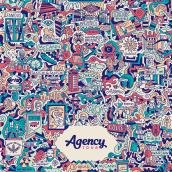 AGENCY TOUR // POSTER. Um projeto de Ilustração, Design gráfico, Ilustração vetorial e Design de cartaz de Mauro Martins - 01.12.2017